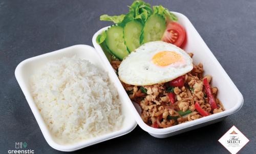 Pad Kra Prao - Aprított hús chilivel, bazsalikommal - Tom Yum Thai Étterem