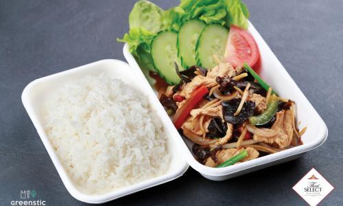 Phad Khing Sod - Gyömbéres, fafülgombás wok - Tom Yum Thai Étterem