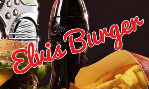 Elvis burger retro diner logo
