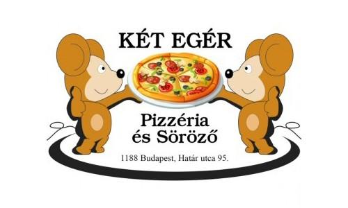Két Egér Söröző és Pizzéria logo